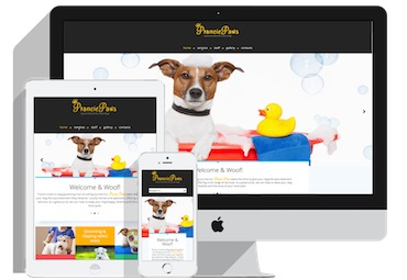 screen shot of pranciepaws.com