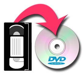 Large logo for VHS to DVD conversion service
